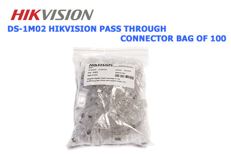 DS-1M02 HIKVISION Pass Through Connector Bag of 100