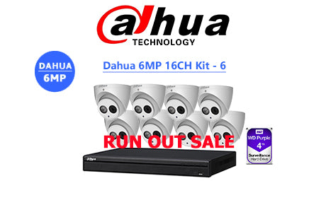 DAHUA 6MP 16CH IP TURRET KIT-6