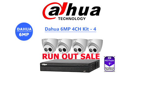 DAHUA 6MP 4CH IP TURRET KIT-4