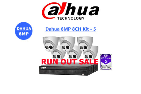 DAHUA 6MP 8CH IP TURRET KIT-5