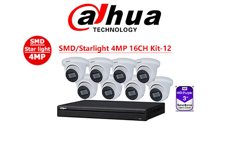 DAHUA SMD/Starlight 4MP 16CH Kit-12