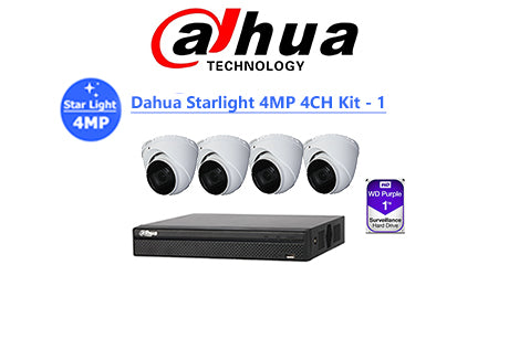 DAHUA Starlight 4MP 4CH IP TURRET KIT-1