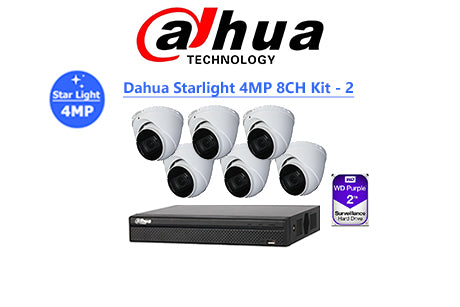DAHUA Starlight 4MP 8CH IP TURRET KIT-2