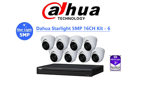 DAHUA Starlight 5MP 16CH IP TURRET KIT-6