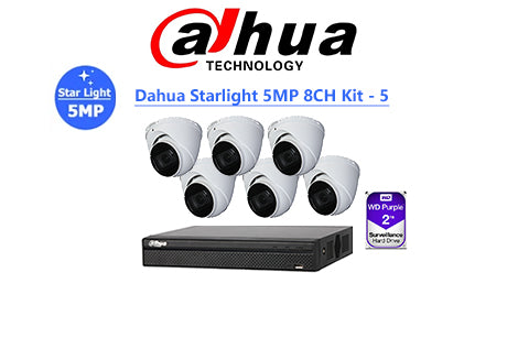 DAHUA Starlight 5MP 8CH IP TURRET KIT-5
