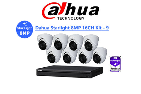 DAHUA Starlight 8MP 16CH IP TURRET KIT-9