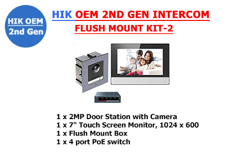 HIK OEM 2ND GEN INTERCOM FLUSH MOUNT KIT-2