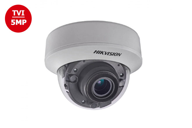 DS-2CE56H5TAITZ    Hikvision TVI 5MP Outdoor IR Dome Camera 2.8~12mm