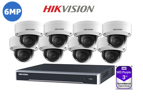 HIKVISION 6MP IP 16CH Dome KIT-6