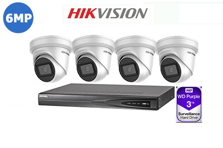 HIKVISION 6MP IP 4CH TURRET KIT-1
