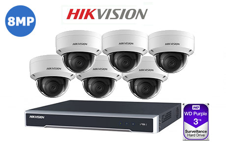 HIKVISION 8MP IP 8CH Dome KIT-14