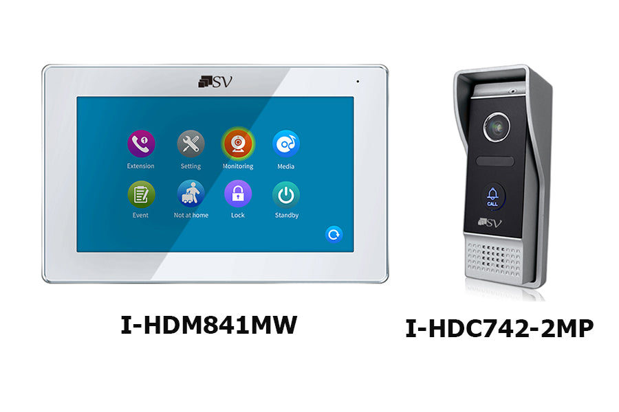 I-HDM841MW + I-HDC742-2MP HD Surface Mount Door Station Kit