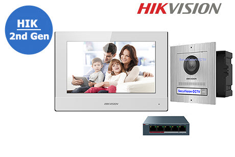 DS-KIS607-FM-KIT-WS HIKVISION 2nd Gen IP Intercom Flush Mount Kit - White Monitor