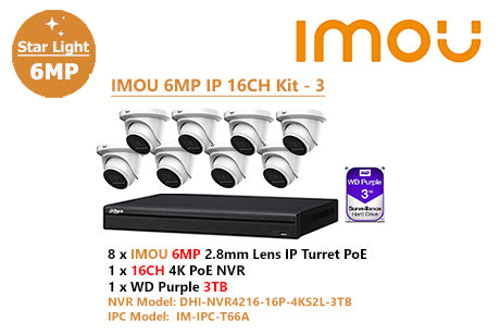 IMOU 6MP IP 16CH Kit - 3