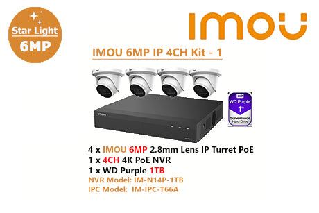 IMOU 6MP IP 4CH Kit - 1