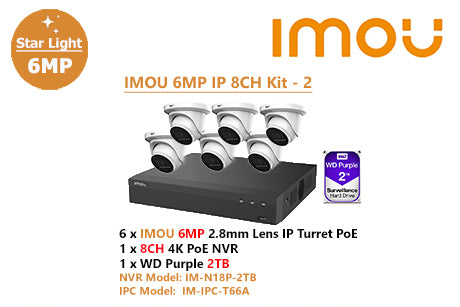 IMOU 6MP IP 8CH Kit - 2