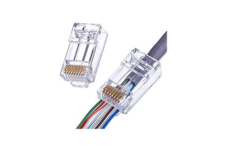 AC-RJ45 EZ pass through connector bag of 100