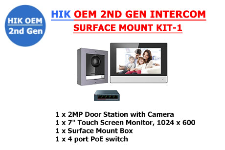 HIK OEM 2ND GEN INTERCOM SURFACE MOUNT KIT-1