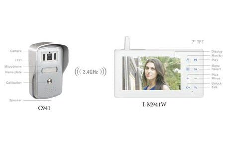 I-M974W + C941(WL) 2.4G Wireless Intercom Kit