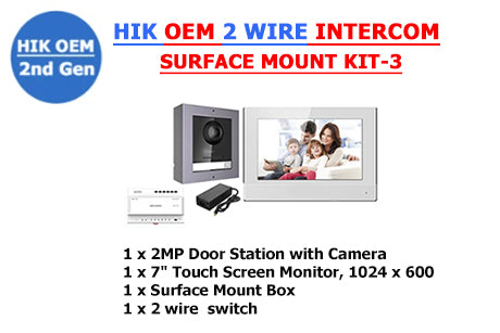 HIK OEM 2 Wire Intercom Surface Mount Kit-3