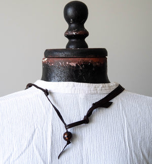 Leather & Bead necklet