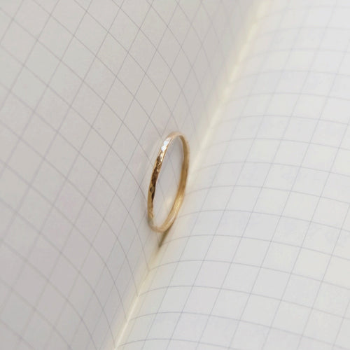 Minimalist Hammered Gold Ring