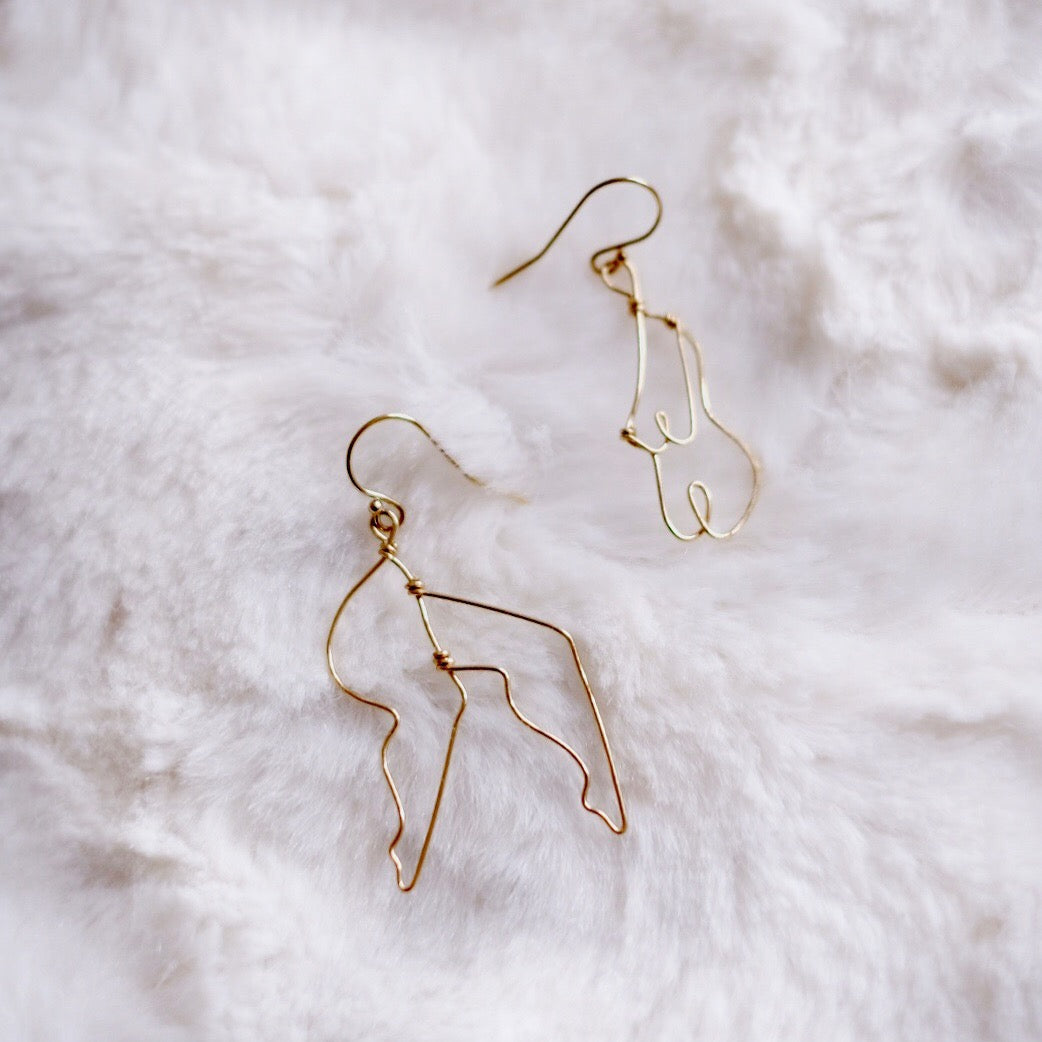 Figure Form Earrings | FREEDOM Collection