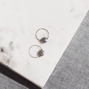 Labradorite Moonstone Ring