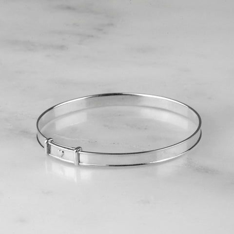 Expanding Bangle With Love Heart