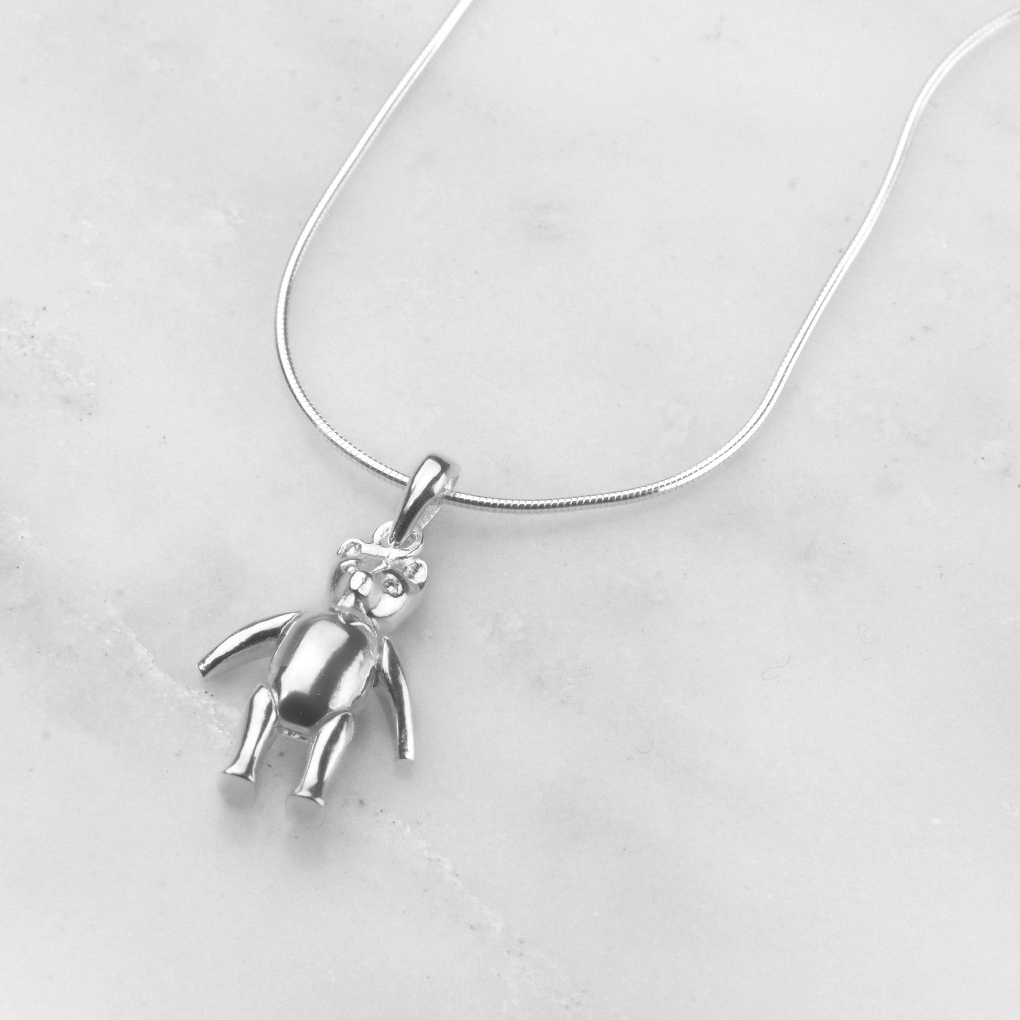 Articulated Teddy Necklace we love mummy