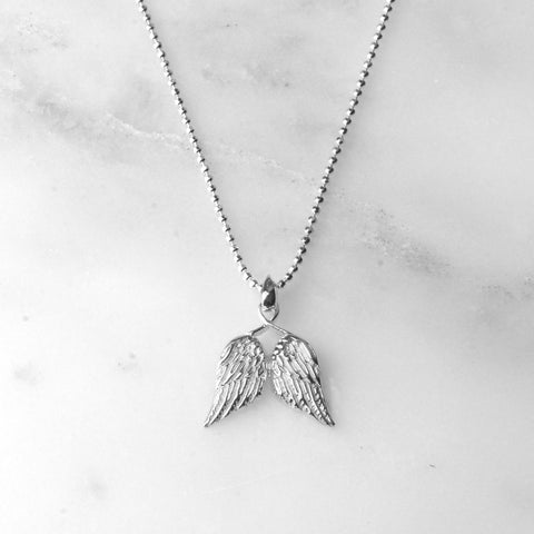 Little Guardian Angel Wings Necklace