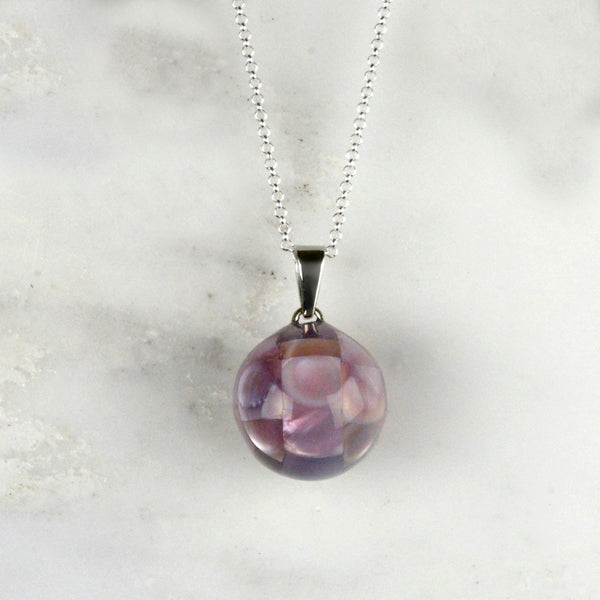 purple Shell Pregnancy Necklace we love mummy