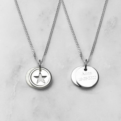 Star Love Disc Necklace