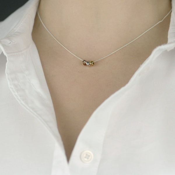 Three Knot Necklace