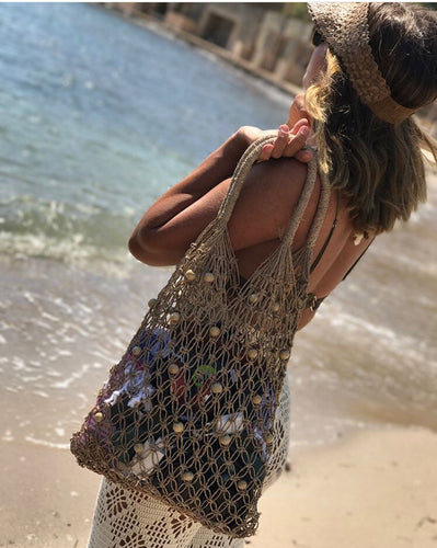 Statement net beach bag