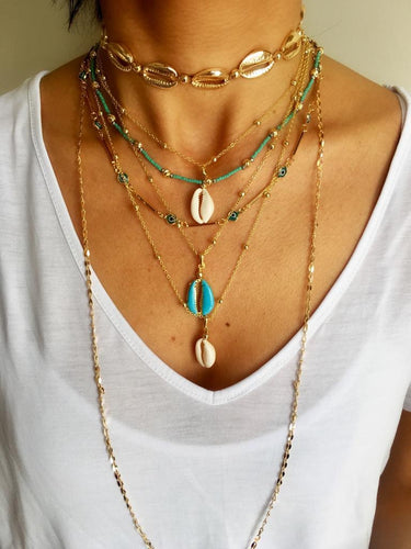 Stacked up necklaces