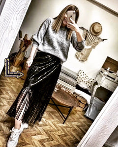 Sequins wrap skirt
