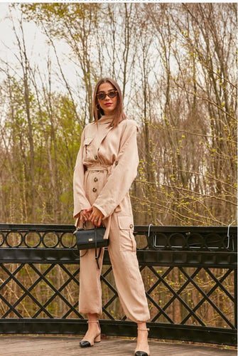 Jumpsuit in nude color