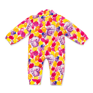 Bubsie Elizabeth the Elephant Organic Cotton Baby Girls Onesie Romper Back Side