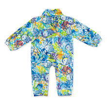Load image into Gallery viewer, Bubsie Frederick the Fish Organic Cotton Baby Boys Onesie Romper Back Side