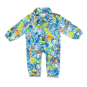Bubsie Frederick the Fish Organic Cotton Baby Boys Onesie Romper