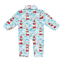 Load image into Gallery viewer, Bubsie Leopold the Lighthouse Organic Cotton Baby Boys Onesie Romper Back Side