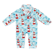 Load image into Gallery viewer, Bubsie Leopold the Lighthouse Organic Cotton Baby Boys Onesie Romper