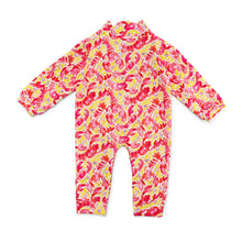Load image into Gallery viewer, Bubsie Leighton the Lobster Organic Cotton Baby Girls Onesie Romper Back Side