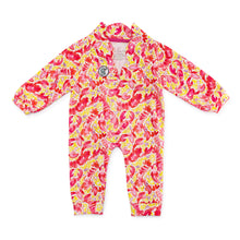 Load image into Gallery viewer, Bubsie Leighton the Lobster Organic Cotton Baby Girls Onesie Romper