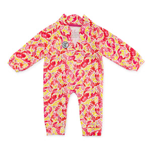 Bubsie Leighton the Lobster Organic Cotton Baby Girls Onesie Romper