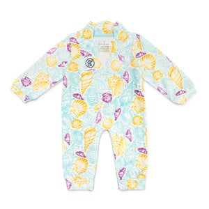 Bubsie Gisele the Seashell Organic Cotton Baby Girls Onesie Romper