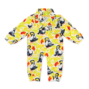 Bubsie Teddy the Toucan Organic Cotton Baby Boys Onesie Romper