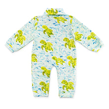 Load image into Gallery viewer, Bubsie Sebastian the Sea Turtle Organic Cotton Baby Boys Onesie Romper Back Side