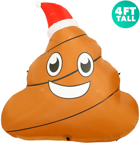 Christmas Poop front view